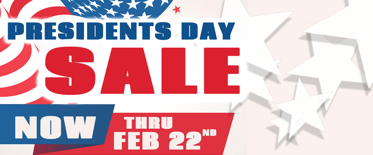 presidnts say sale now thru febuary 22nd